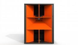 J1 Front View Orange Horn